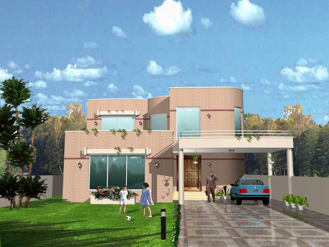 Front elevation design ahsan associates for Window design elevation